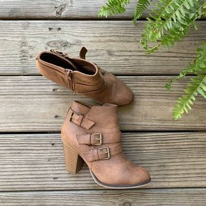 Shoes - Brown Booties - Like New!